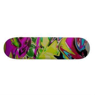 Abstract color swirls Skate deck 7 7/8