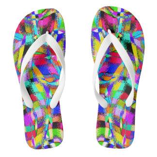 Abstract Color Waves - Darker Flip Flops