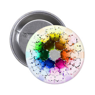 Abstract Color Wheel 2 Inch Round Button