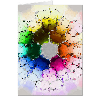 Abstract Color Wheel Card