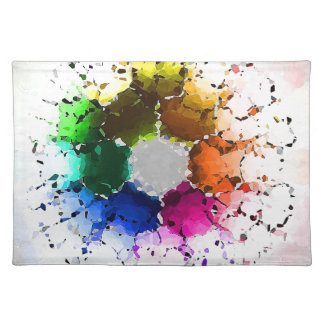Abstract Color Wheel Placemat