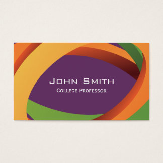 Abstract Colored Curves Professor Business Card