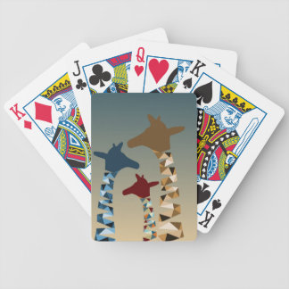 Abstract Colored Giraffe Family Bicycle Playing Cards