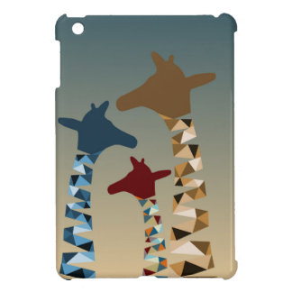 Abstract Colored Giraffe Family Case For The iPad Mini