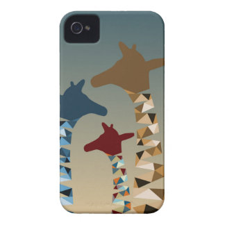 Abstract Colored Giraffe Family Case-Mate iPhone 4 Cases