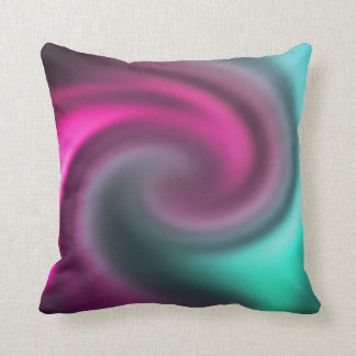 Abstract Colored Swirl Pillow