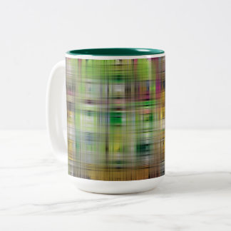 Abstract Colored Weave Two-Tone Coffee Mug