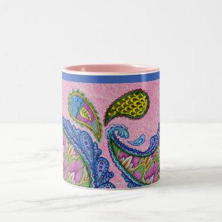 Abstract Colorful Art Two-Tone Mug