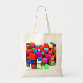 Abstract Colorful Background in Red, Blue, Green Budget Tote Bag