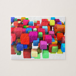 Abstract Colorful Background in Red, Blue, Green Puzzles