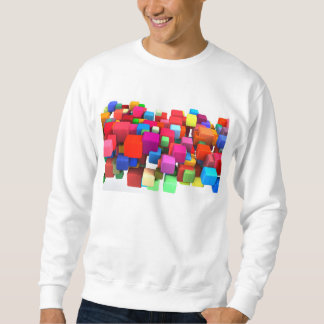 Abstract Colorful Background in Red, Blue, Green Sweatshirt