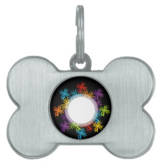 Abstract colorful background pet ID tags