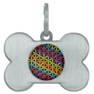 Abstract colorful background pet name tags