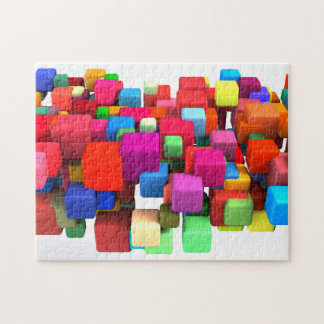 Abstract Colorful Background Puzzle