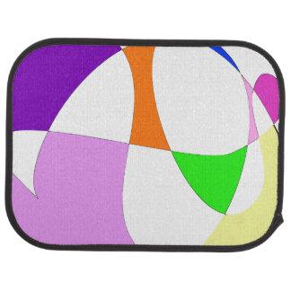 Abstract Colorful Balloons Car Mat
