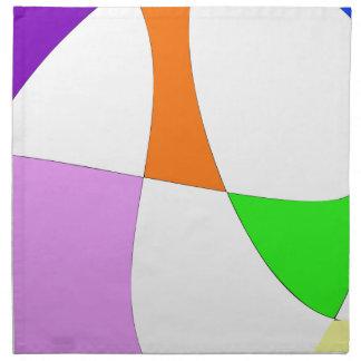 Abstract Colorful Balloons Napkin