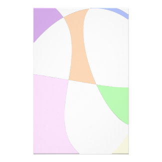 Abstract Colorful Balloons Stationery