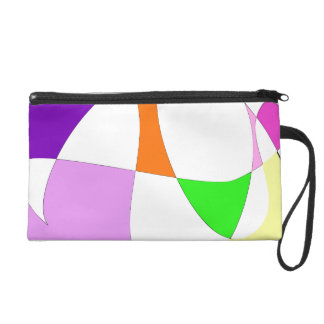 Abstract Colorful Balloons Wristlet