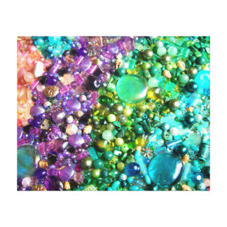 Abstract Colorful Beads Canvas Print