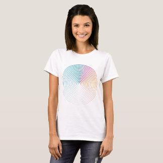Abstract colorful circle women shirt