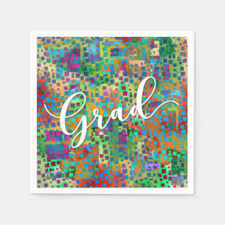 Abstract Colorful Confetti Graduation Celebration Paper Napkin