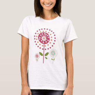 abstract colorful dandelion flowers dots T-Shirt