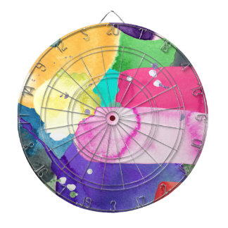 ABSTRACT COLORFUL DARTBOARD