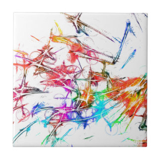 Abstract Colorful Design Tile