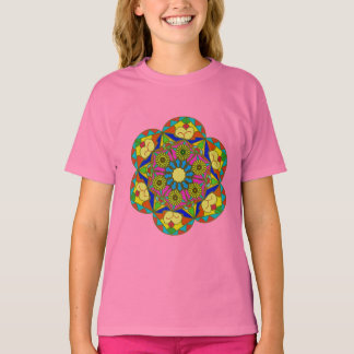 Abstract colorful drawing of the flower T-Shirt