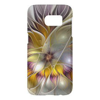 Abstract Colorful Fantasy Flower Modern Fractal Samsung Galaxy S7 Case