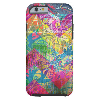 Abstract Colorful Floral Swirls iPhone 6 case Tough iPhone 6 Case