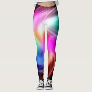 Abstract Colorful Fractal Pattern Leggings