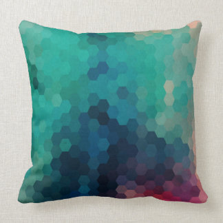 Abstract Colorful Geometric Digital Collage 3 Throw Pillow