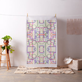 Abstract Colorful Geometric Lines Random Pattern 2 Fabric