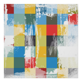 Abstract Colorful Grunge Modern Design Poster