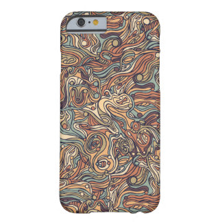 Abstract colorful hand drawn curly pattern design barely there iPhone 6 case