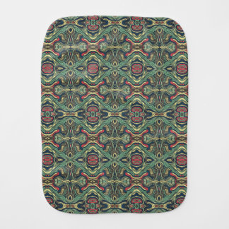 Abstract colorful hand drawn curly pattern design burp cloth