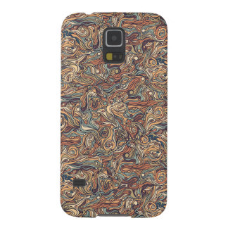 Abstract colorful hand drawn curly pattern design case for galaxy s5