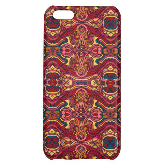 Abstract colorful hand drawn curly pattern design case for iPhone 5C