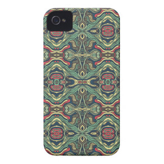 Abstract colorful hand drawn curly pattern design Case-Mate iPhone 4 cases