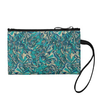 Abstract colorful hand drawn curly pattern design coin purse
