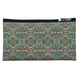 Abstract colorful hand drawn curly pattern design cosmetic bag