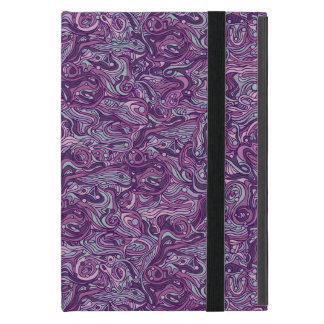 Abstract colorful hand drawn curly pattern design cover for iPad mini