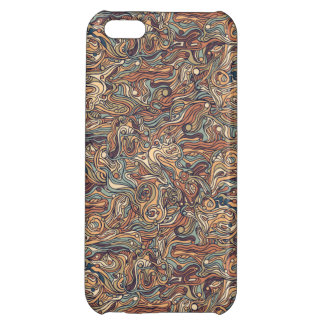 Abstract colorful hand drawn curly pattern design cover for iPhone 5C
