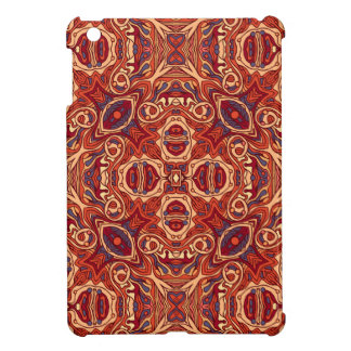 Abstract colorful hand drawn curly pattern design cover for the iPad mini