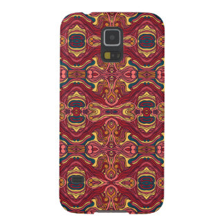 Abstract colorful hand drawn curly pattern design galaxy s5 cover