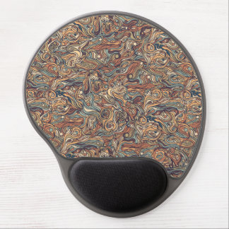 Abstract colorful hand drawn curly pattern design gel mouse pad