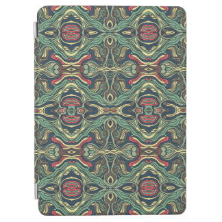 Abstract colorful hand drawn curly pattern design iPad air cover