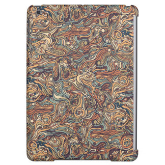 Abstract colorful hand drawn curly pattern design iPad air covers