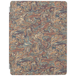 Abstract colorful hand drawn curly pattern design iPad cover